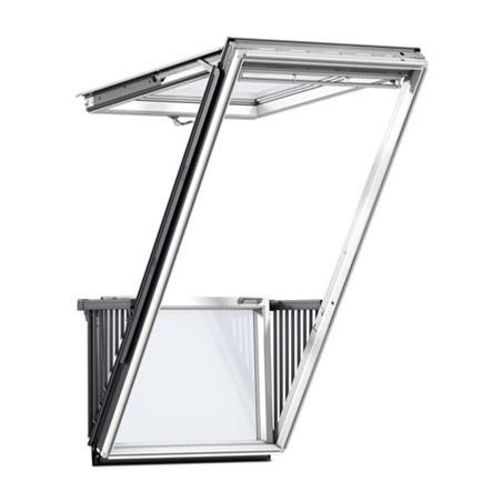 VELUX CABRIO GDL SD0W001 White Paint Single Balcony for Tile